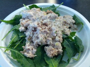 Tuna Salad Over Kale