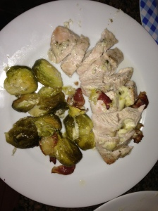 Roasted Turkey, Brussel Sprouts and Bacon