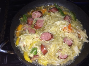 Turkey Kielbasa w/ peppers